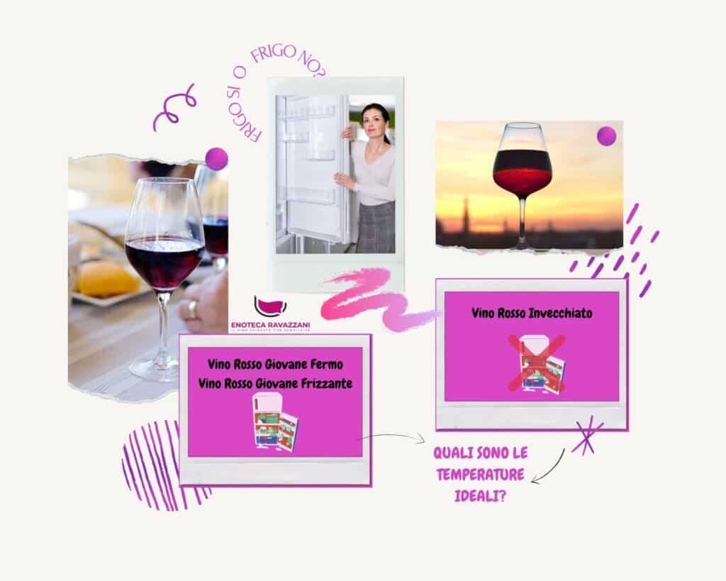 qual'è la temperatura di servizio dei vini rossi?